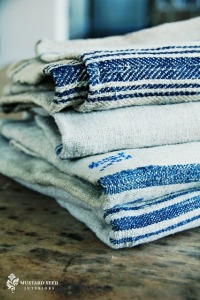 blue napkins country kitchen inspiration