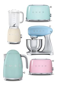 Pastel kitchen inspiration retro smeg products