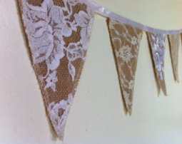 hessian burlap bunting country kitchen inspiration