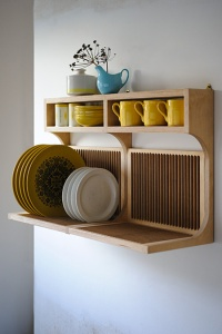 Retro kitchen drying rack