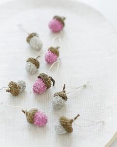 acorn Christmas decorations