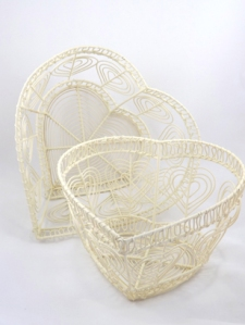 heart wire vintage basket