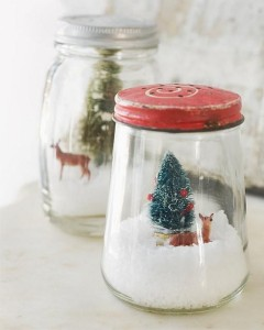 DIY Snowglobes Christmas decoration ideas