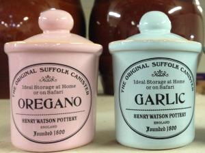 Colourful spice jars pastel